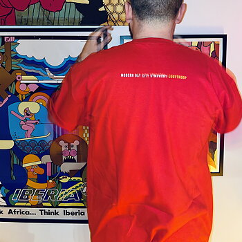 Looptroop Rockers - Modern Day Photo Tee (Red)