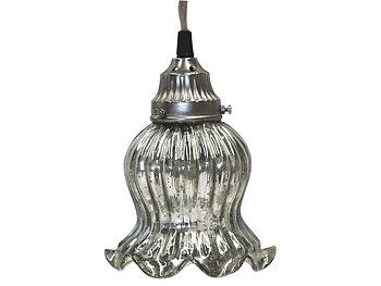Lampa tulipan i silver