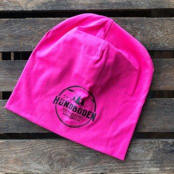 Mössa Hundboden rosa med svart logga