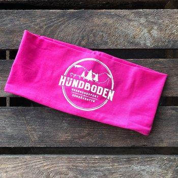 Pannband Hundboden rosa med vit logga
