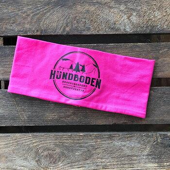 Pannband Hundboden rosa med svart logga