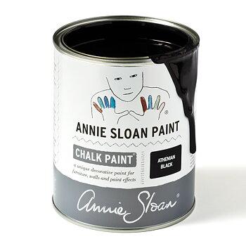 Athenian Black svart Chalk Paint kalkfärg med intensiv svärta