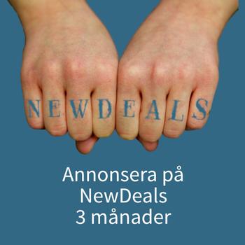 Annons NewDeals 3 mån(OBS! Formulär måste fyllas i innan köp Klicka på bilden och läs mer)
