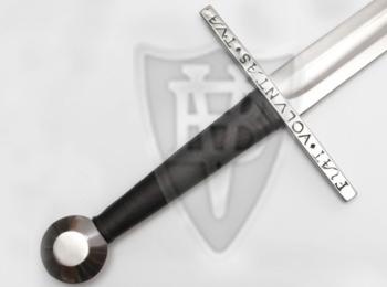 Lång svärd från XV Talet med Latinsk Text