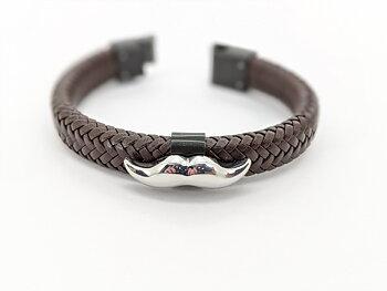 Armband klassiskt - Brunt - Mustaschkampen