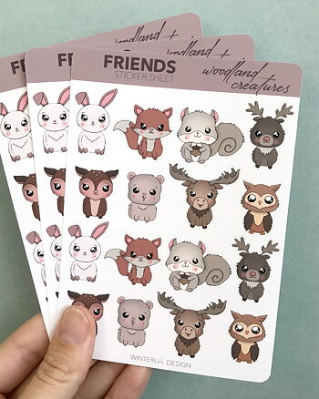 Friends - Woodland Creatures - Klistermärken