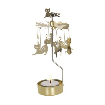ROTARY CANDLE HOLDER CAT FAMILY