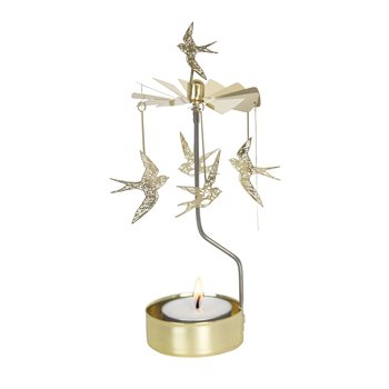 ROTARY CANDLE HOLDER SWALLOW