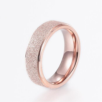 GRAVERAD ROSÉGULD RING 16mm