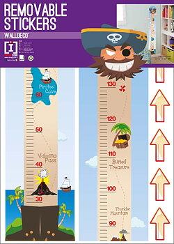 Høydemåler Pirat - Wall Sticker