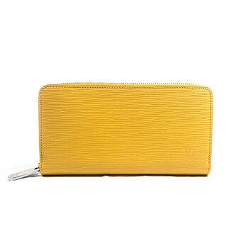 Louis Vuitton Yellow Epi Leather Zippy Long Wallet