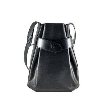 Louis Vuitton Sac D'epaule PM Black Epi Leather Shoulder Bag