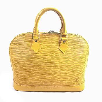 Louis Vuitton Alma Yellow Epi Leather Handbag