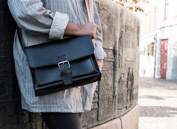 Postmanbag, black