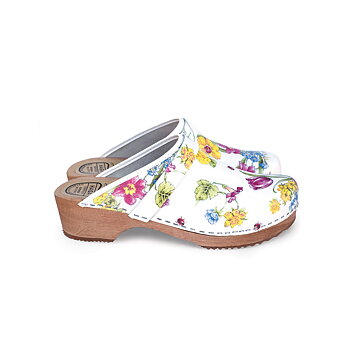 Hagatoffel, clog - with flowers