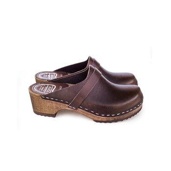 Hagatoffeln, clog - veg-tanned brown