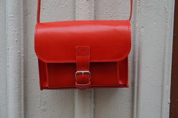 Postmanbag, red