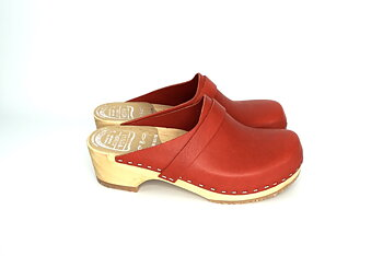 Hagatoffeln, clog - veg-tanned red