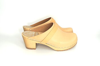 Hagatoffeln, clog - with higher heel nature